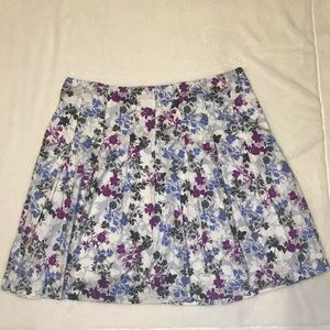 Talbots pleated floral skirt women's size 22W